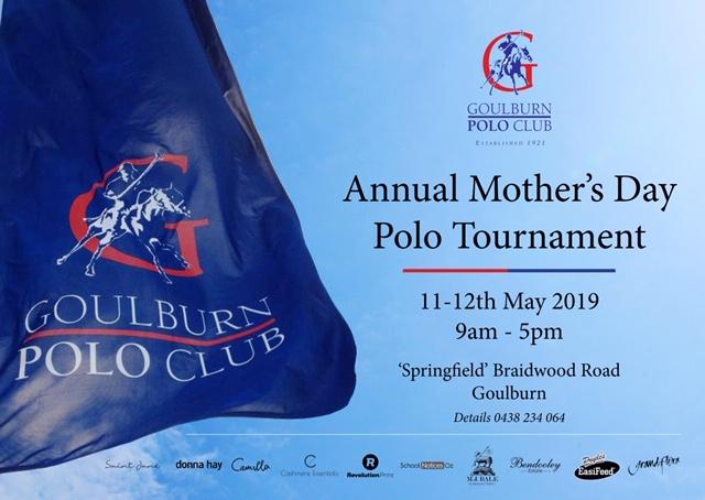 Goulburn Polo event info on flag